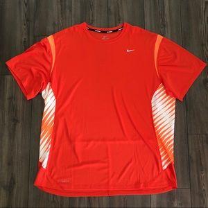 Orange Nike Running Dri-Fit Shirt